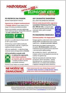 Miniporadnik Bezpieczny Kibic Euro 2012