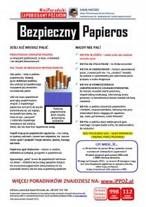 MiniPoradnik ppoż Bezpieczny Papieros
