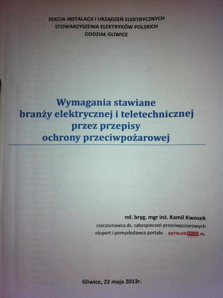 Strona tytułowa materiałów szkoleniowych