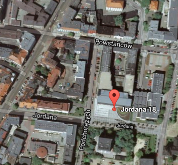 google maps jordana 18 katowice