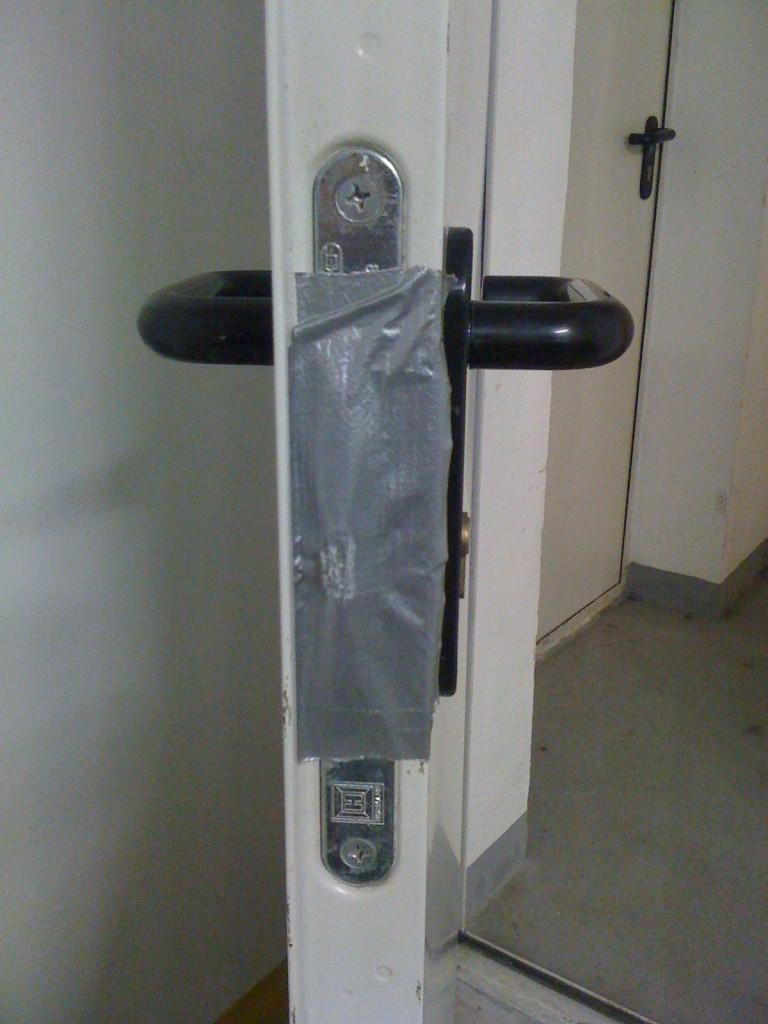 zabezpieczone drzwi ppoż